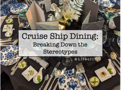 cruise ship dining choices by cruise line